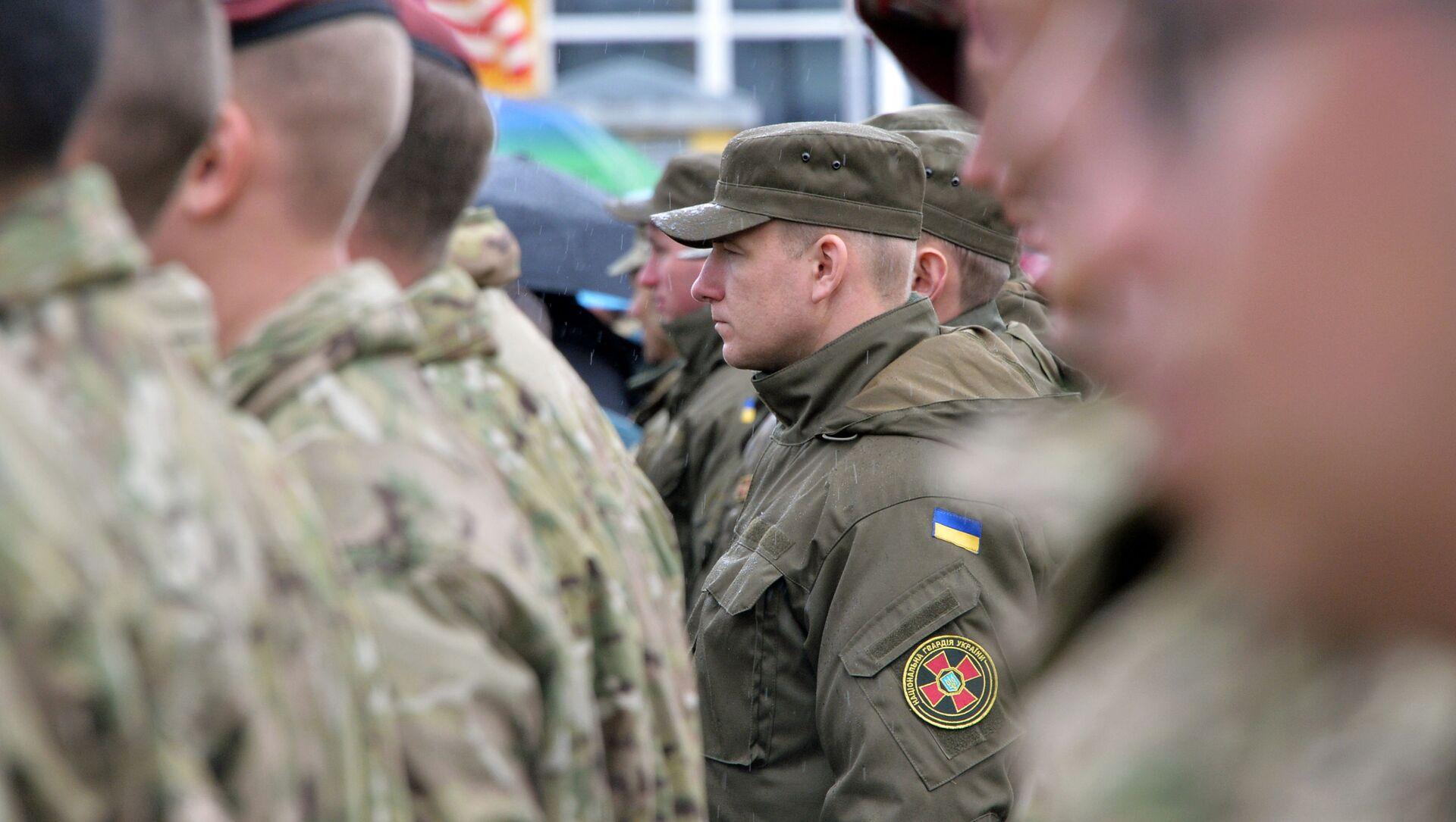 Amerykańscy i ukraińscy żołnierze na jaworowskim poligonie w obwodzie lwowskim  - Sputnik Polska, 1920, 17.04.2021