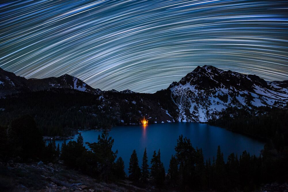 Dan Barr Star Trails over Green Lake