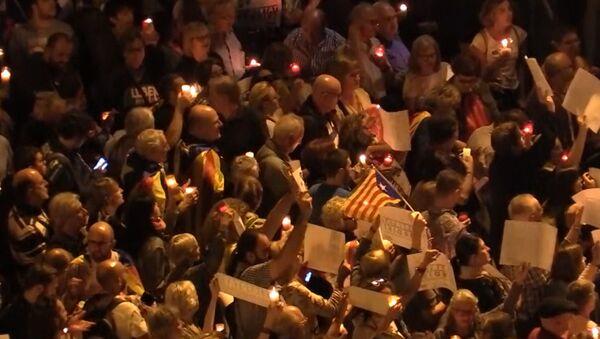 Protest w Barcelonie - Sputnik Polska