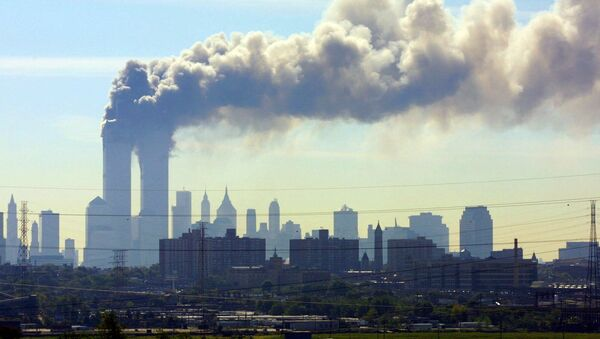 Zniszczenia w wyniku zamachu terrorystycznego 11 września w Nowym Jorku - Sputnik Polska