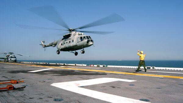 Heliktoper Mi-17 meksykańskiej floty morskiej - Sputnik Polska