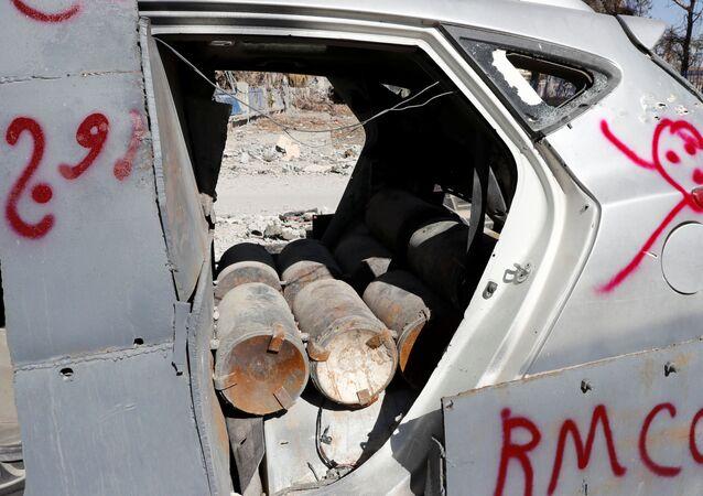 Bomby w samochodzie w Rakce
