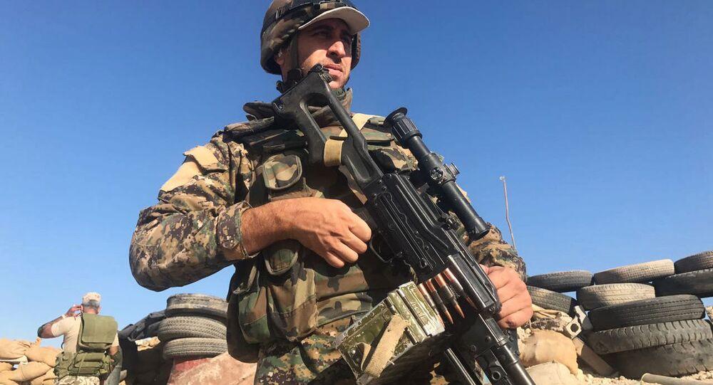 Żołnierze syryjskiej armii w rejonie Dajr az-Zaur