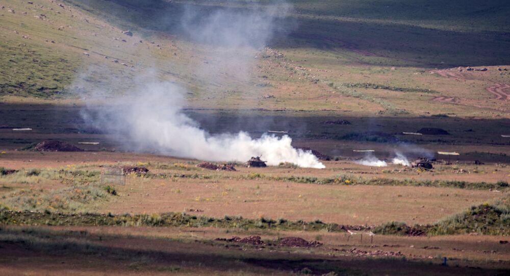 Ćwiczenia wojskowe na poligonie Ałagiaz w Armenii