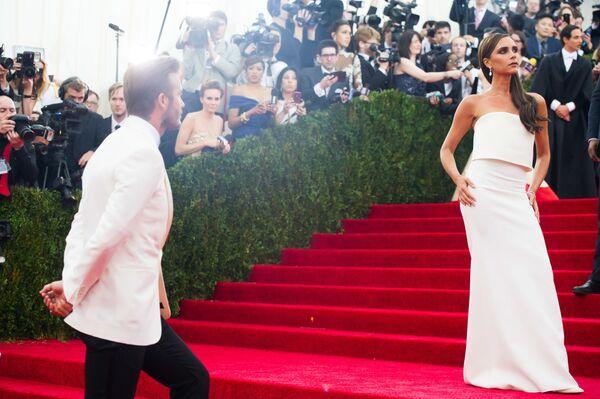 David Beckham i jego żona Victoria - Sputnik Polska