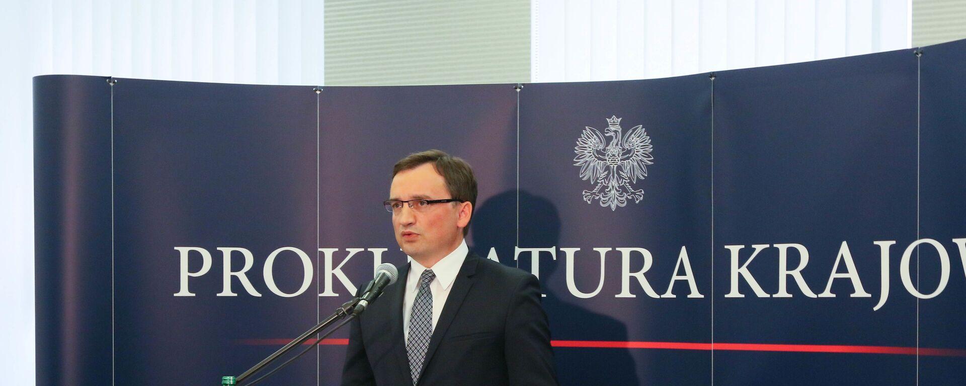 Minister sprawiedliwości Zbigniew Ziobro - Sputnik Polska, 1920, 25.05.2021