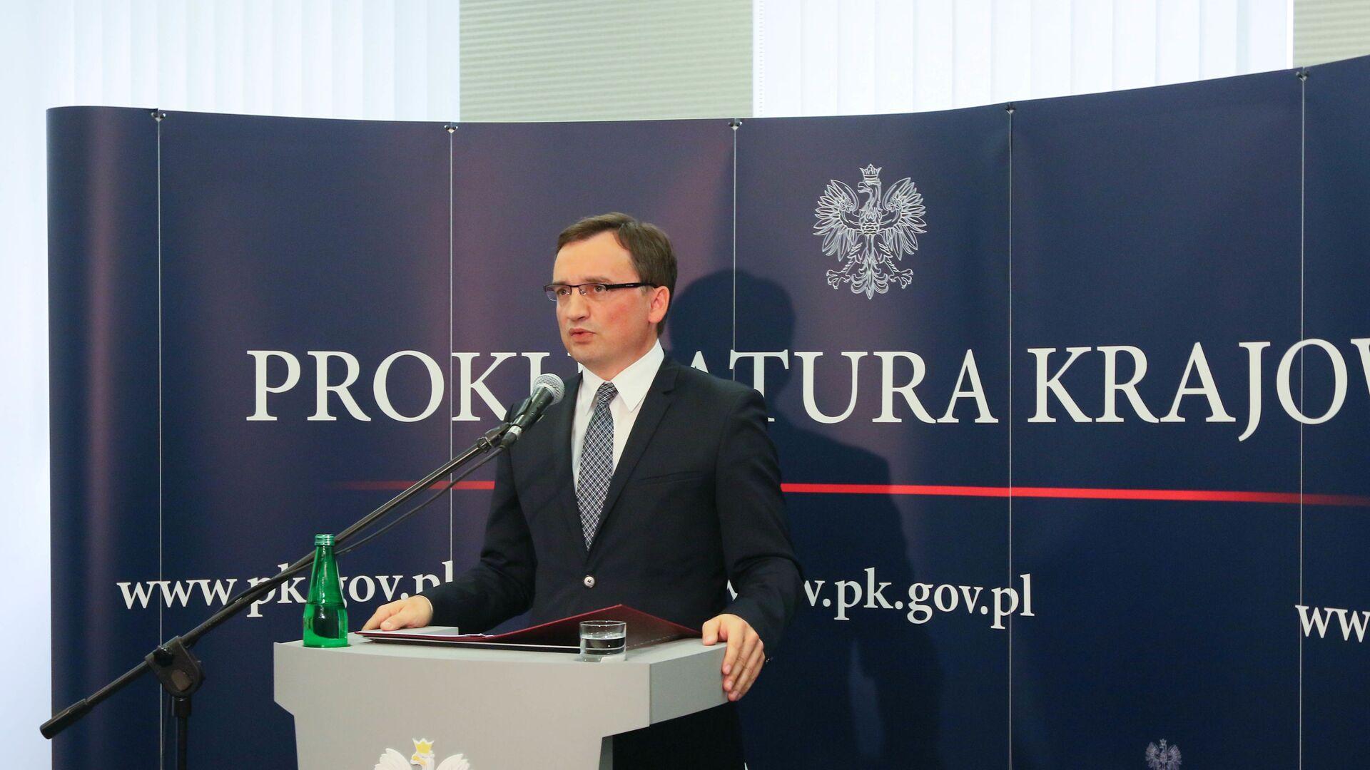 Minister sprawiedliwości Zbigniew Ziobro - Sputnik Polska, 1920, 06.08.2021