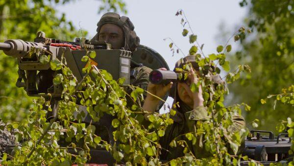 Litewscy wojskowi w czasie manewrów NATO na Litwie - Sputnik Polska
