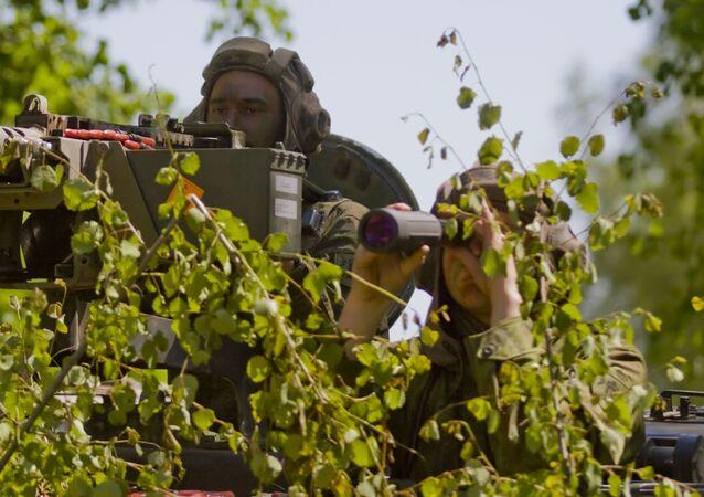 Litewscy wojskowi w czasie manewrów NATO na Litwie