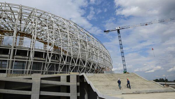 "Budowa stadionu ""Mordowia Arena"" w Sarańsku - Sputnik Polska"
