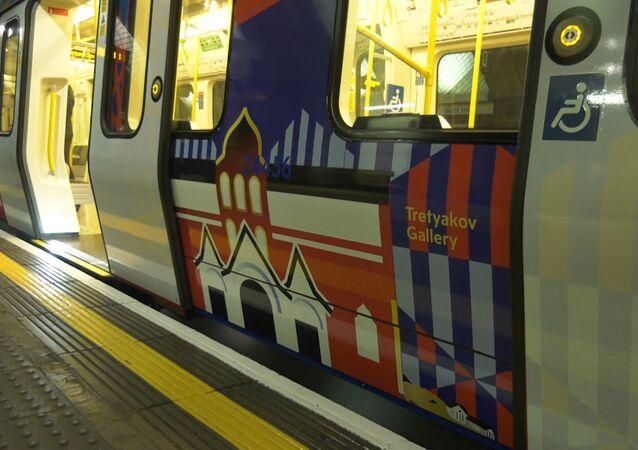 Londyjskie metro w rosyjskich barwach