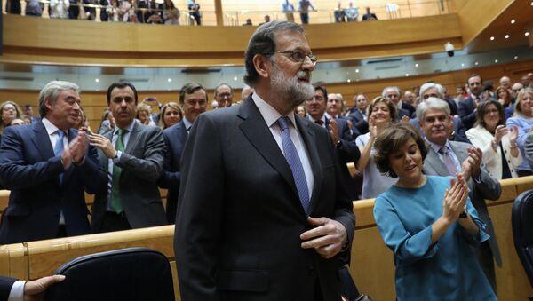 Premier Hiszpanii Mariano Rajoy w hiszpańskim senacie w Madrycie - Sputnik Polska