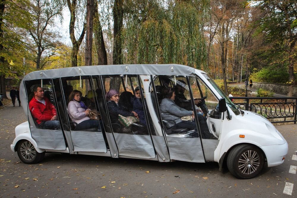 Ekologiczny transport w Parku Narodowym Kisłowodzki.
