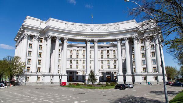 Budynek Ministerstwa Spraw Zagranicznych Ukrainy w Kijowie - Sputnik Polska
