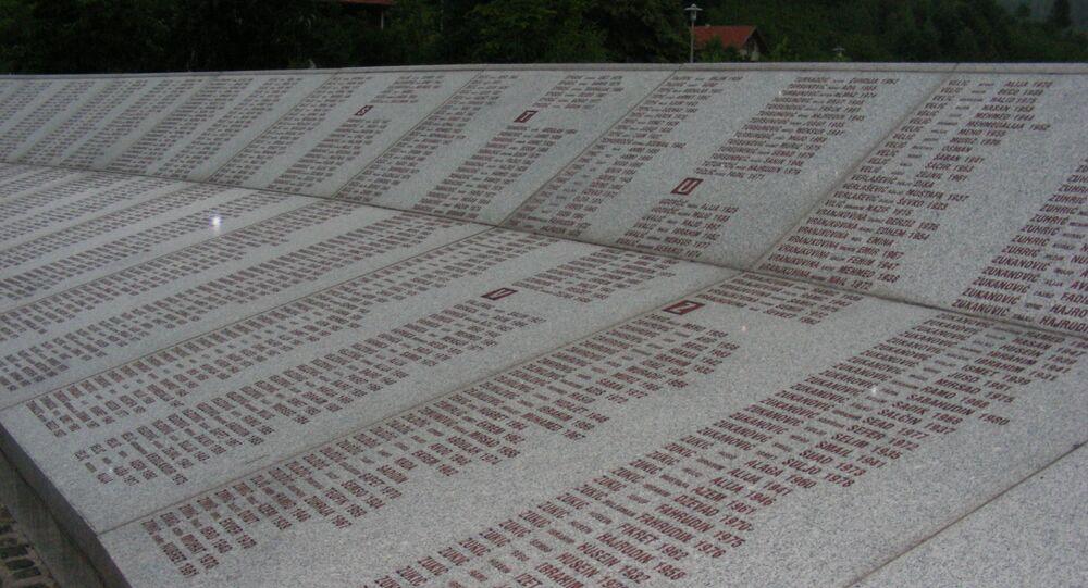 Pomnik ofiar masakry w Srebrenicy w Potočarach