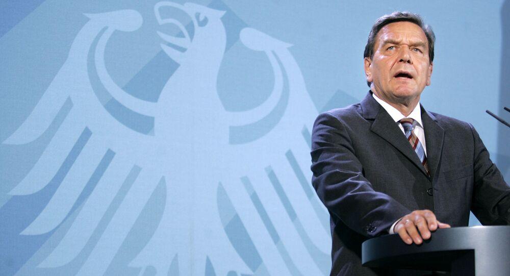 Kanclerz federalny Niemiec Gerhard Schroeder