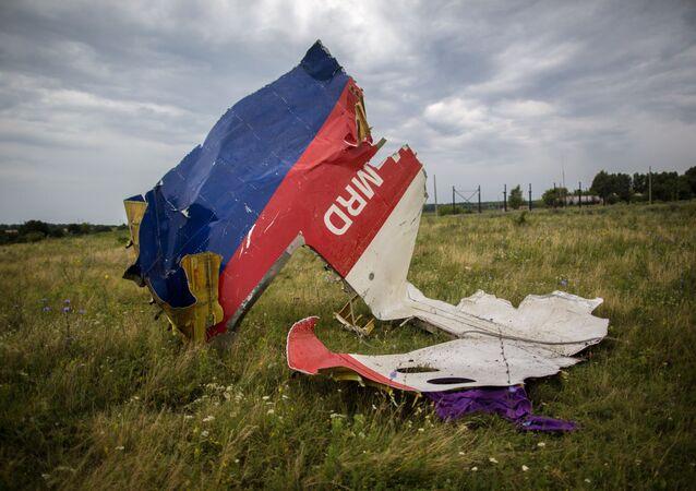 Szczątki samolotu Boeing-777 w okolicach Szachtarśka