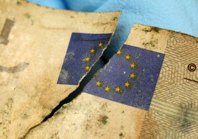 Uszkodzony banknot Euro