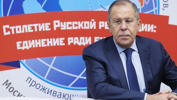 Minister spraw zagranicznych Federacji Rosyjskiej Siergiej Ławrow na Światowej Konferencji Rosyjskich Rodaków Mieszkających Za Granicą - Sputnik Polska