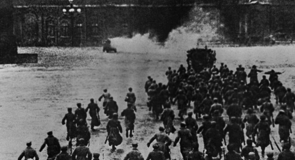 Rewolucja 1917, Petersburg, zdjęcie archiwalne