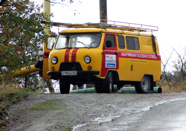 Służby awaryjne remontują gazociąg na Krymie