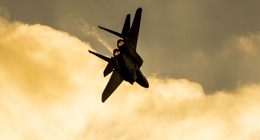 Myśliwiec F-15 izraelskich sił powietrznych