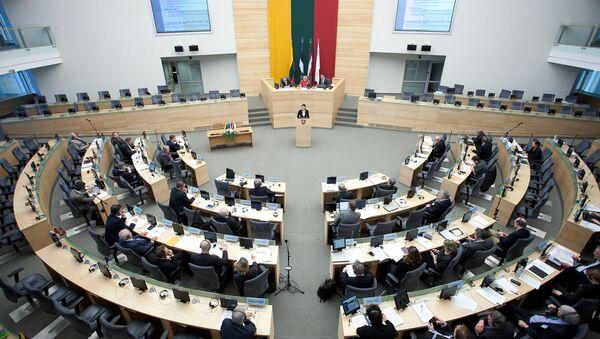 Siedziba Sejmu Republiki Litewskiej w Wilnie - Sputnik Polska