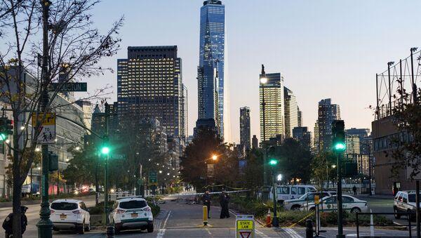 Policja na miejscu ataku terrorystycznego w Nowym Jorku - Sputnik Polska