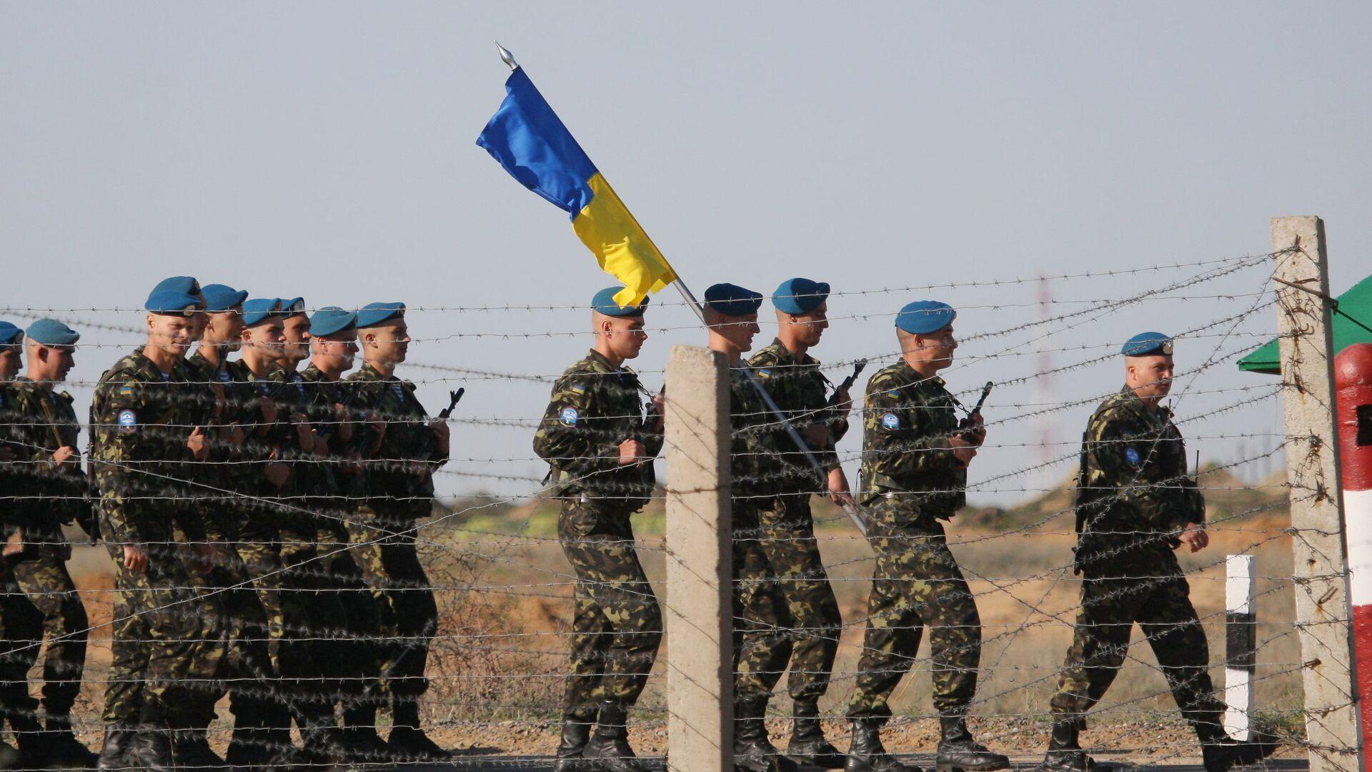 Ukraińscy desantowcy są przeciwni wymianie beretów - Sputnik Polska, 1920, 04.08.2021