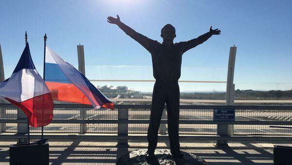 Pomnik Gagarina w Montpellier, Francja - Sputnik Polska