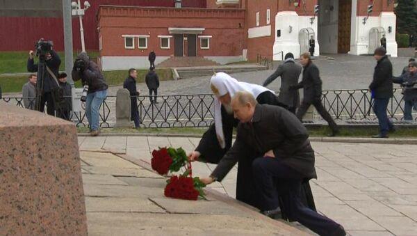 Putin podczas obchodów Dnia Jedności Narodowej - Sputnik Polska