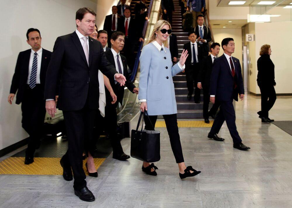 Doradczyni prezydenta USA Ivanka Trump w Międzynarodowym Porcie Lotniczym Narita w Japonii.