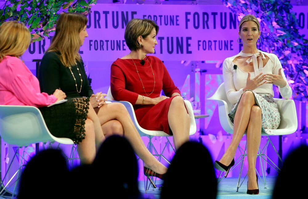 Doradczyni prezydenta USA Ivanka Trump przemawia na szczycie Wpływowe kobiety magazynu Fortune w Waszyngtonie.