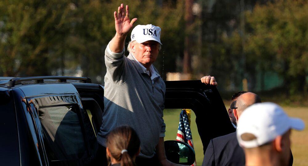 Prezydent USA Donald Trump podczas wizyty w Japonii