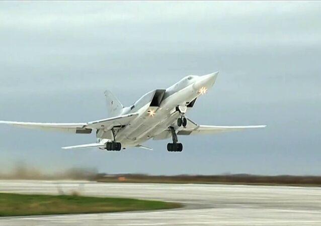 Bombowiec Tu-22M3 rosyjskich WKS