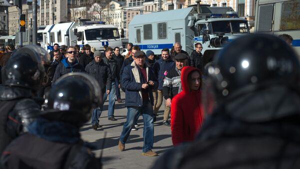 Protesty w Moskwie, marzec 2017 - Sputnik Polska