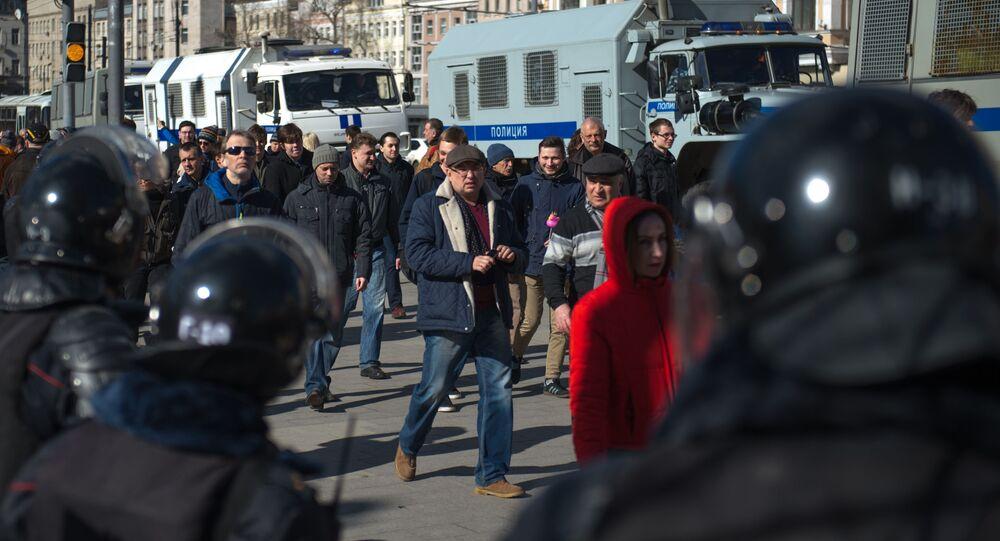 Protesty w Moskwie, marzec 2017
