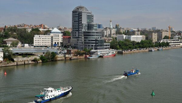 Widok na centrum biznesowe na brzegu Donu w Rostowie nad Donem - Sputnik Polska