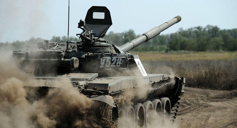 Ćwiczenia jednostek czołgowych w obwodzie rostowskim