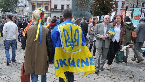 Lwów w Dzień Niepodległości Ukrainy - Sputnik Polska