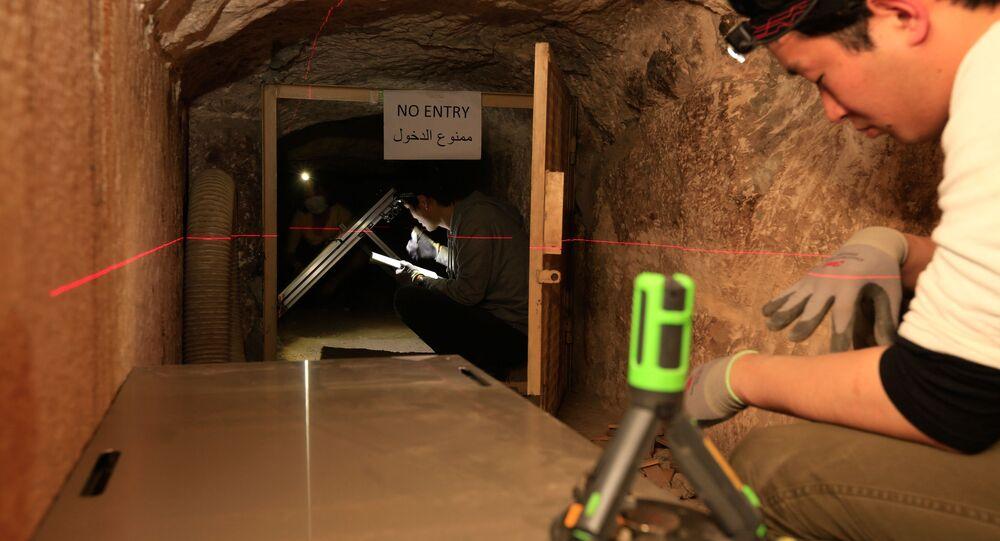 Detektor mionowy w piramidzie Cheopsa