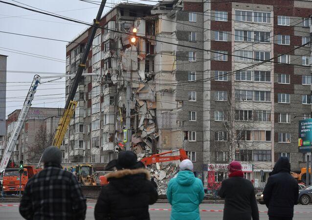 Eksplozja w bloku w Iżewsku