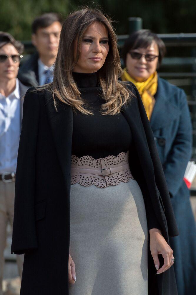 Melania Trump podczas wizyty w zoo