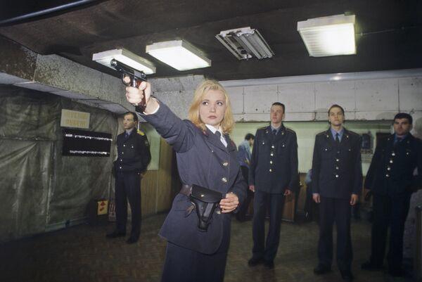 Zajęcia na strzelnicy w Moskiewskim Instytucie Prawnym MSW Rosji. 1997 rok. - Sputnik Polska