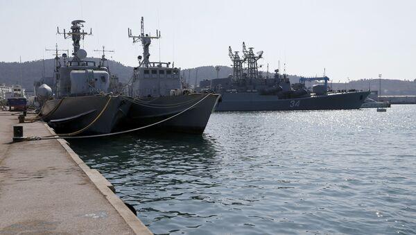 Okręty marynarki wojennej Czarnogóry w porcie Bar - Sputnik Polska