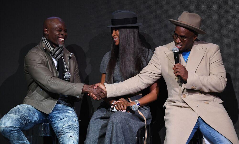 Sean 'P. Diddy' Combs, Naomi Campbell i Djimon Gaston Hounsou