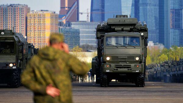 Ночная репетиция военного парада на Красной площади - Sputnik Polska