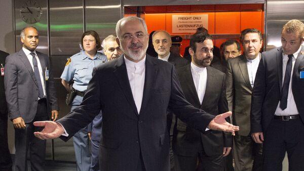 Minister spraw zagranicznych Iranu Dżawad Zarif na rozmowach w Wiedniu - Sputnik Polska