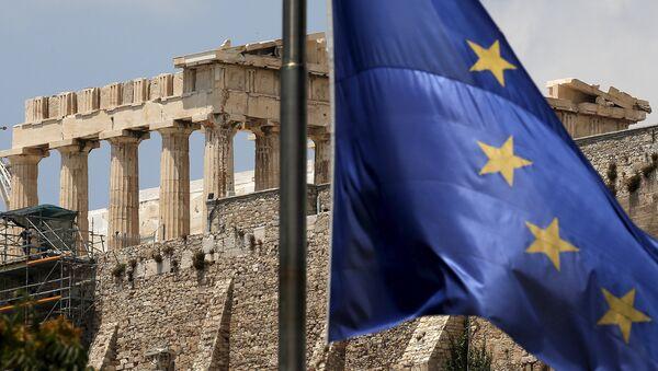 Grecja, flaga UE - Sputnik Polska