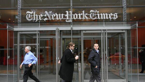 Wejście do siedziby gazety The New York Times  - Sputnik Polska